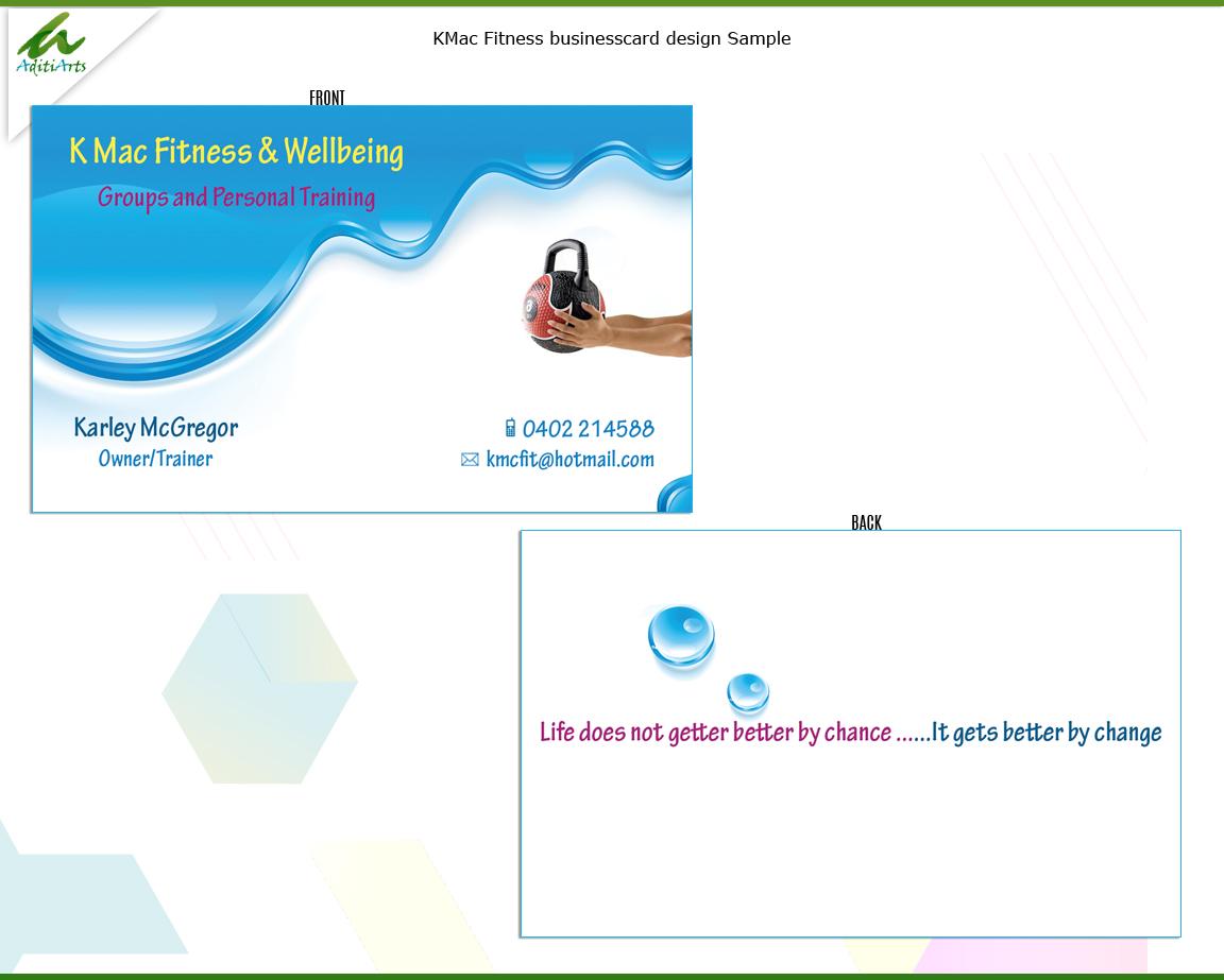 Design De Carte Visite Color Audacieux Personal Trainer Pour K Mac Fitness En Aux Australia