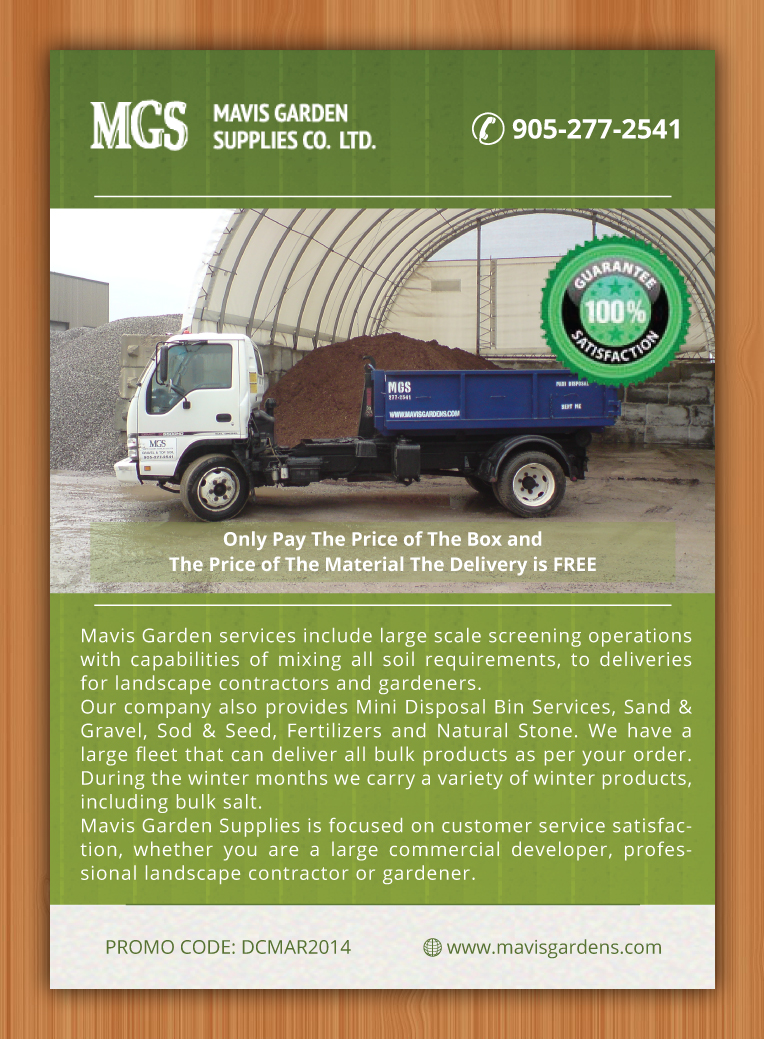 Flyer Design By Sbss For Mavis Garden Supplies Co. Ltd. | Design #3281532