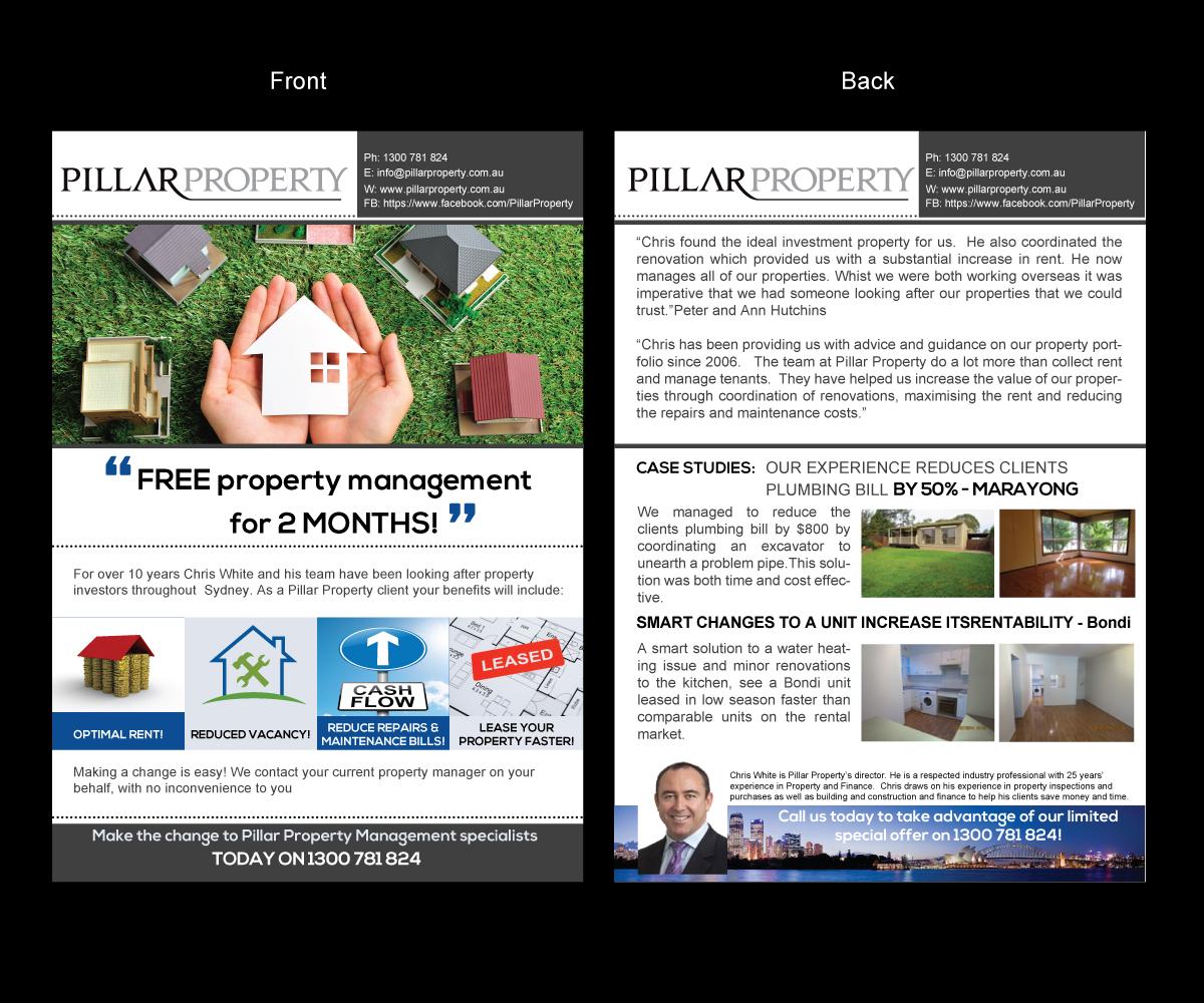 Upmarket Property Development Brochures : Upmarket elegant property management flyer design for a