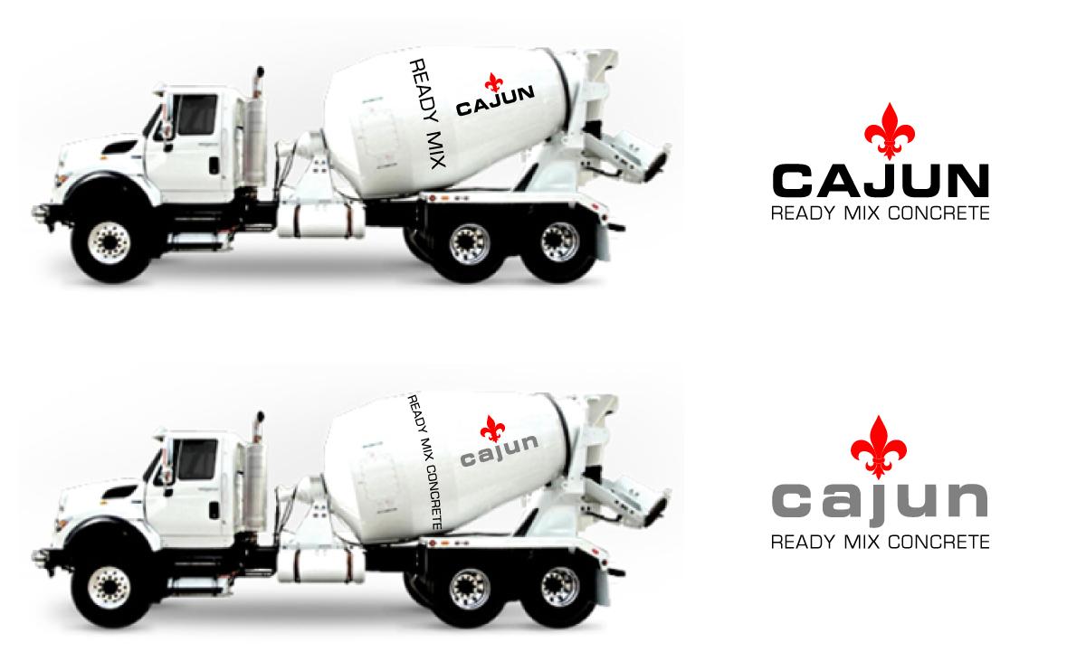 Ready Mix Concrete Logo Design : Femenino moderno concrete diseño de logo for cajun ready