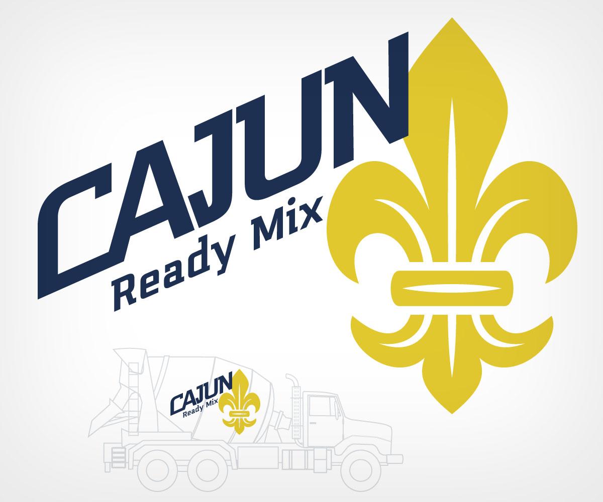 Ready Mix Concrete Logo Design : Feminine modern concrete logo designs for cajun ready