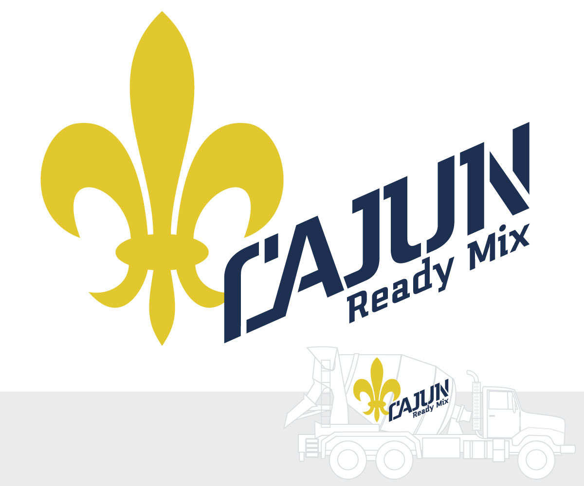 Ready Mix Concrete Logo Design : Feminine modern concrete logo design for cajun ready mix
