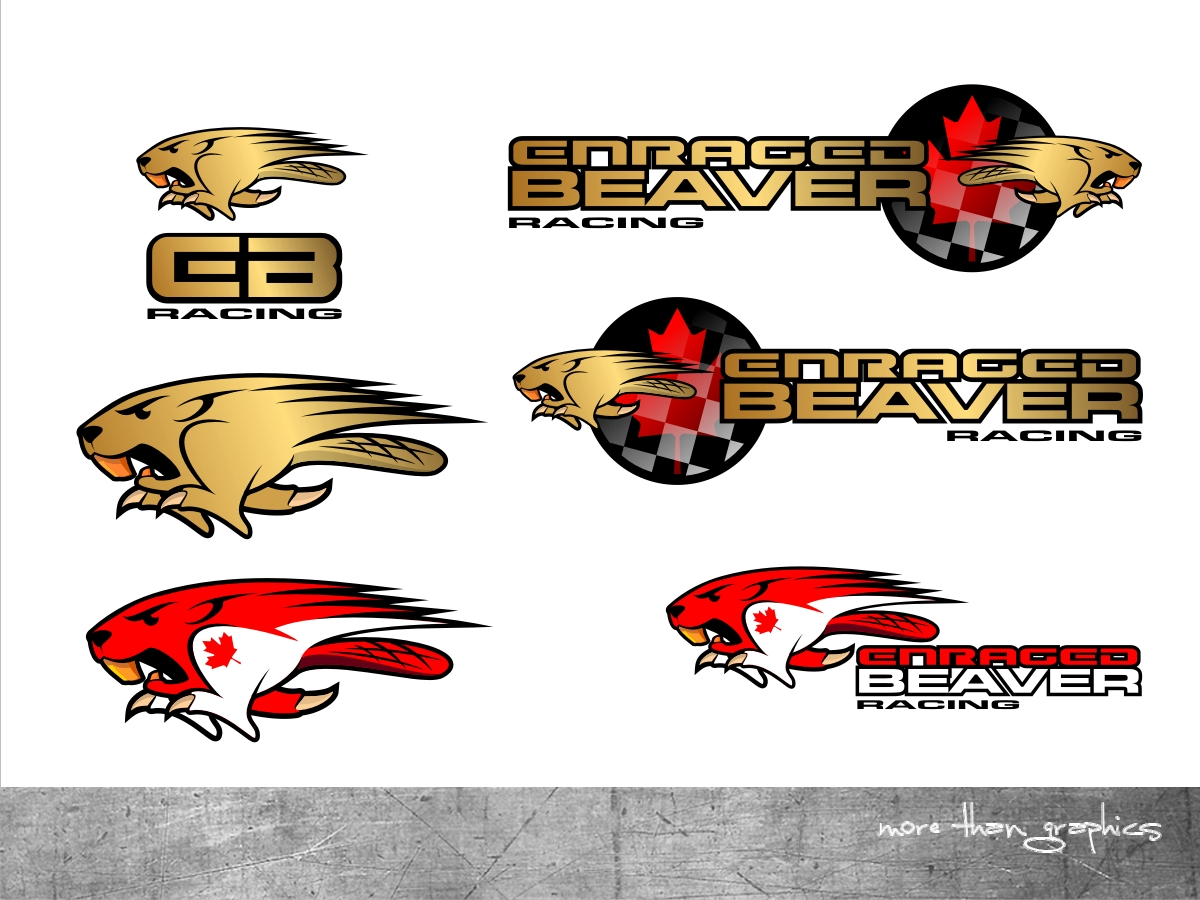 racing logo design for enraged beaver racing by vladst2004 design