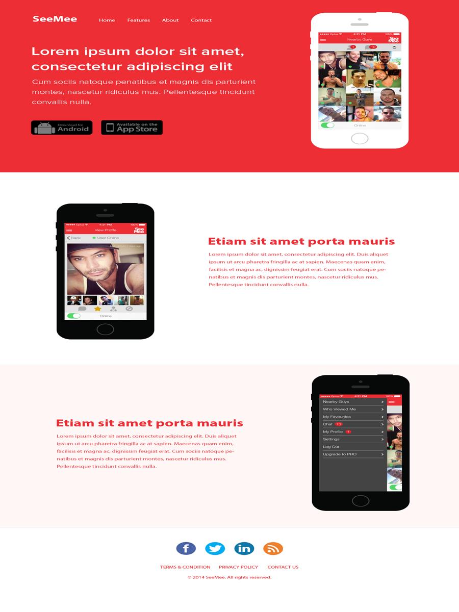 Masculine playful web design for seemee social pty ltd by for Masculine web design