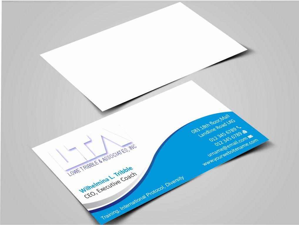 Elegant feminine building business card design for lowe tribble business card design by zarnab for lowe tribble associates inc design colourmoves