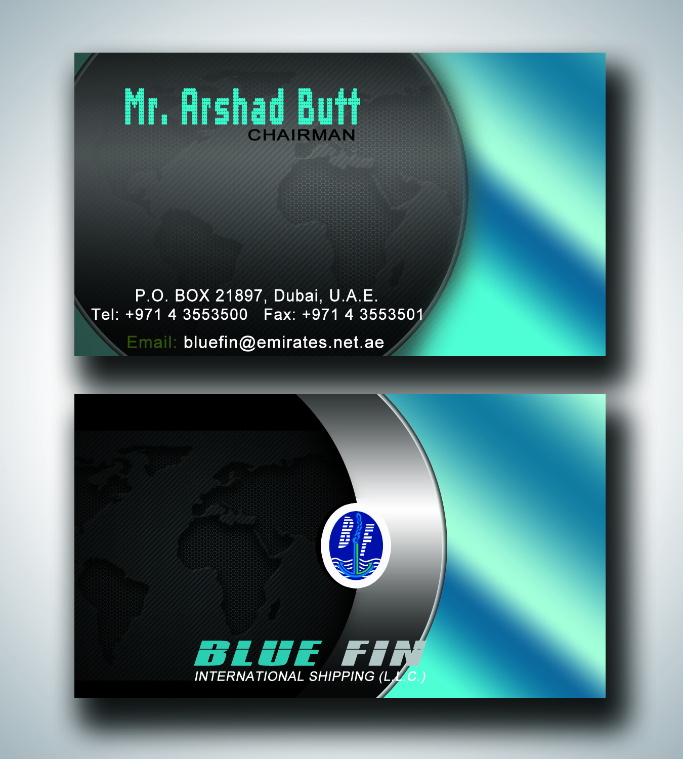 Shipping Business Card Design for a Company by muzakir | Design #3293338