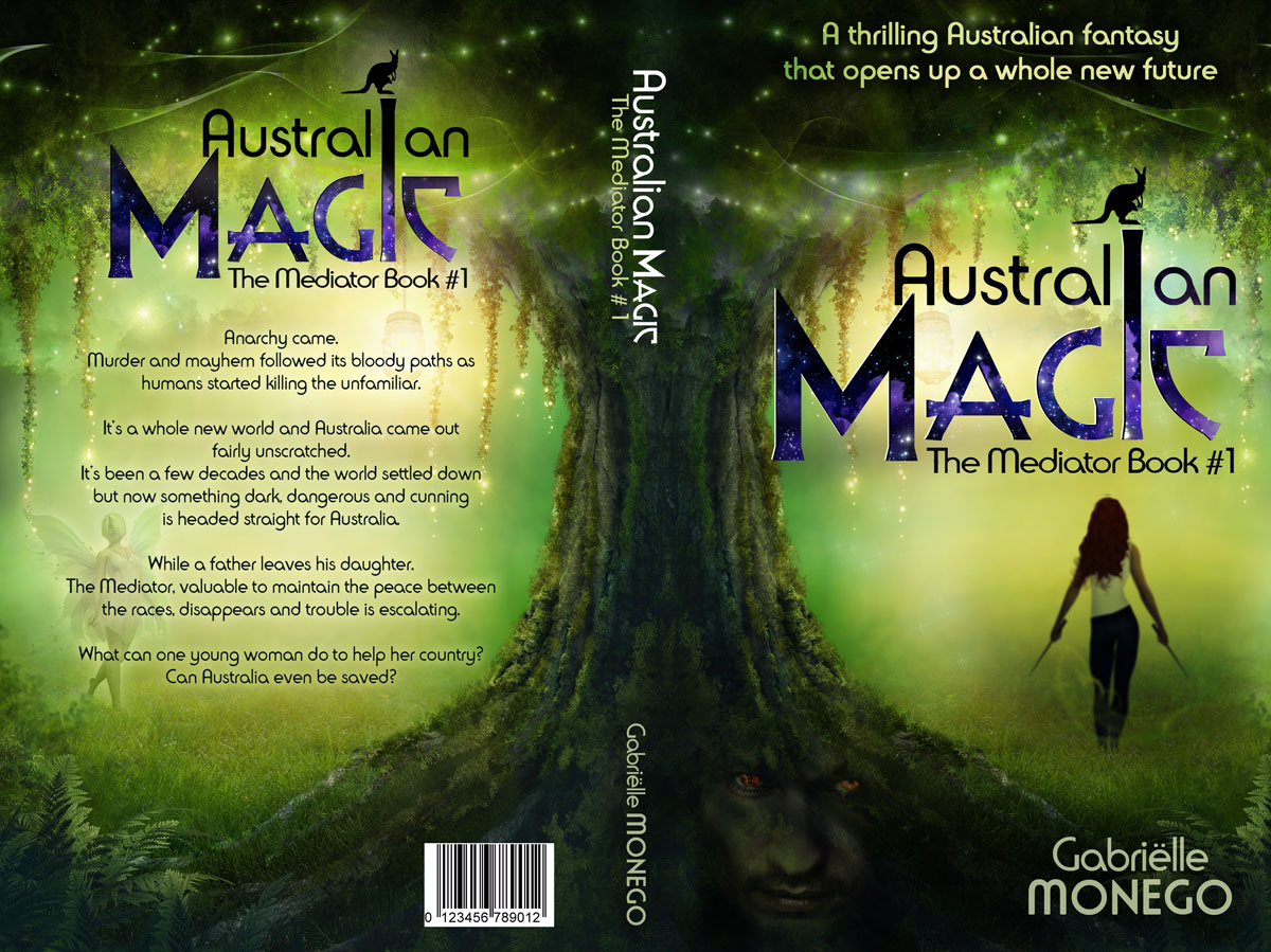 Book Cover Design Australia ~ Modern professional book cover design for gabrielle