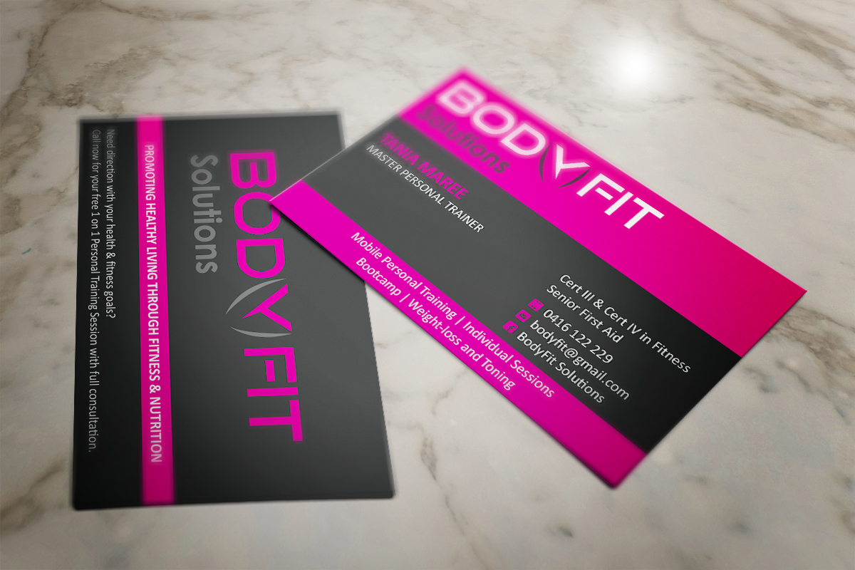 Business Card Design Project for Female Personal Trainer