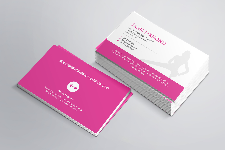 Feminine, Modern, Training Business Card Design for a Company by AZ ...