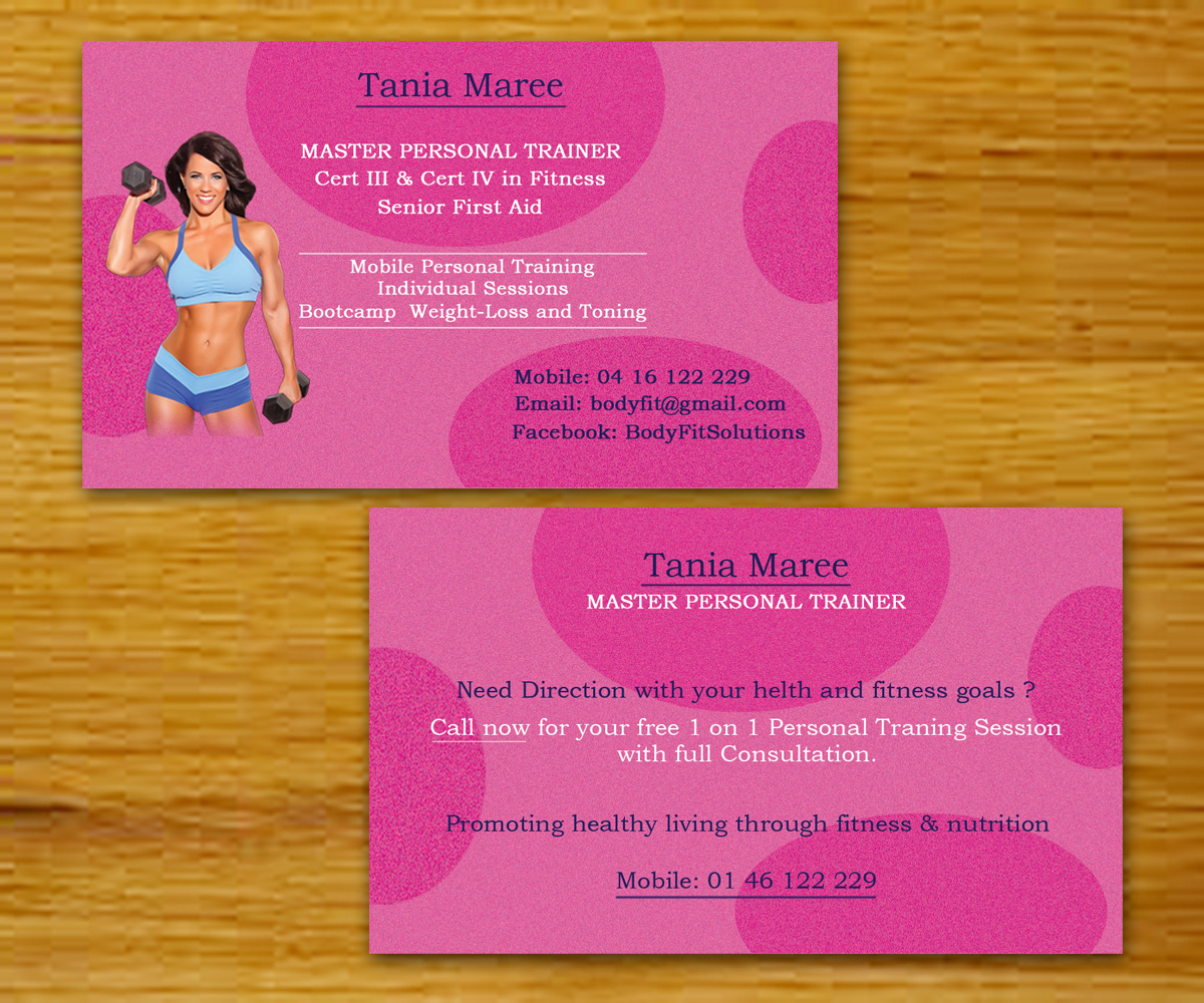 Feminine, Modern Business Card Design for Tonia Lamond by mlodhari ...