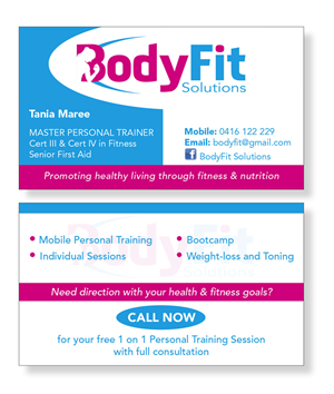 Girly business card designs 44 girly business cards to browse business card design project for female personal trainer business card design by patrick tero colourmoves