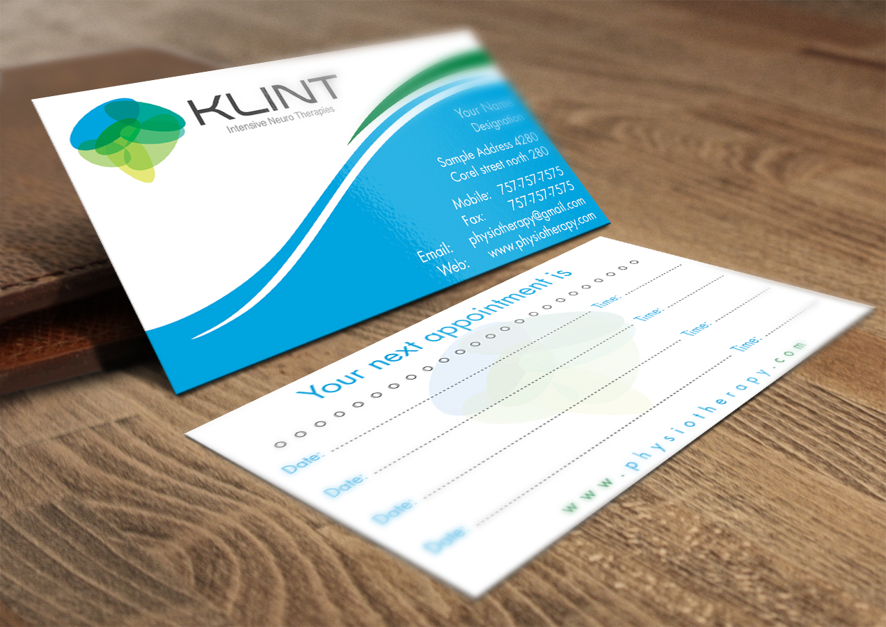 Business cards design for physiotherapist images card design and professional upmarket business card design for klint by business card design by infinitedesign for neurological physiotherapy magicingreecefo Gallery
