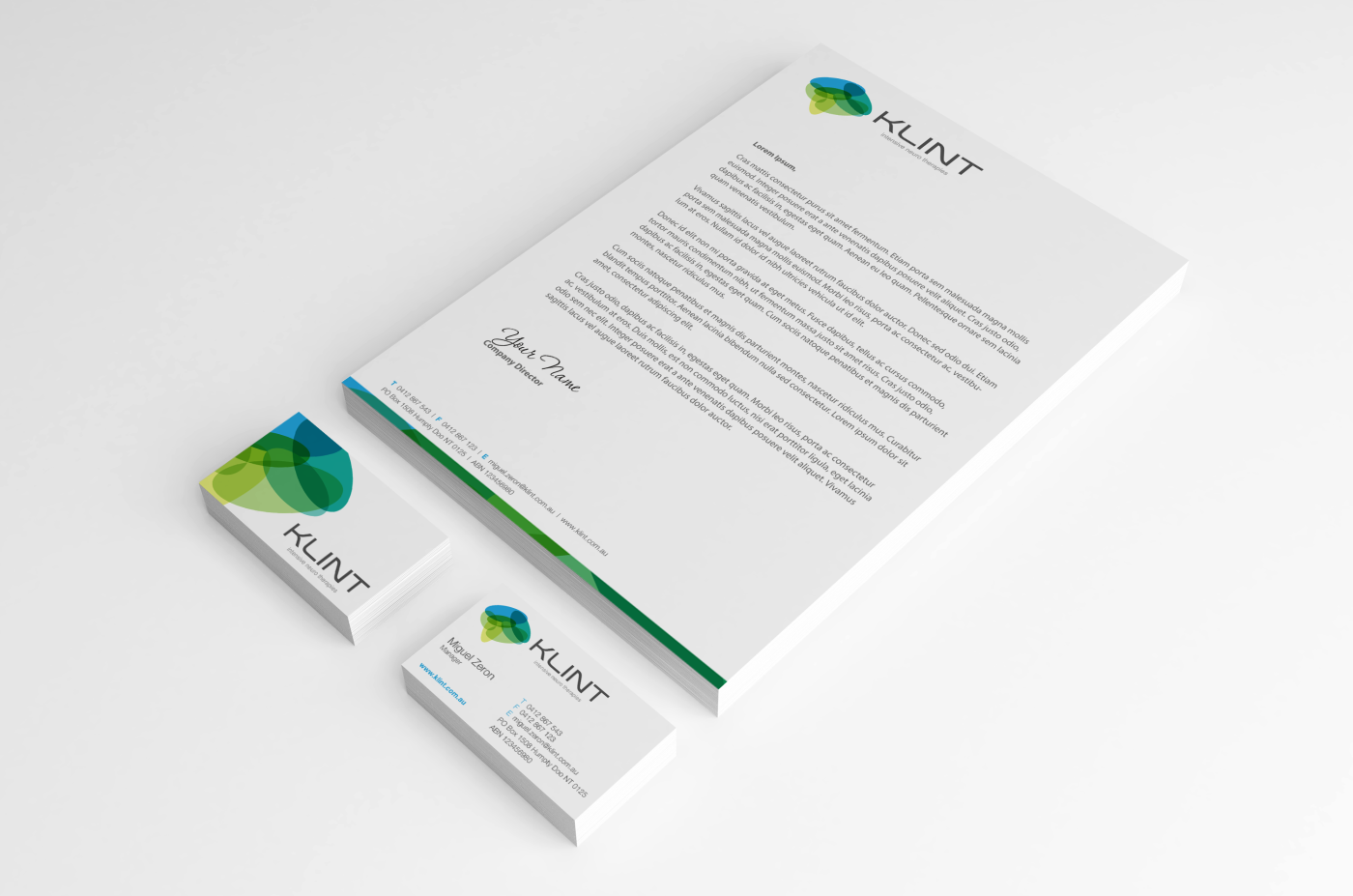Professional Upmarket Professional Service Letterhead Design For