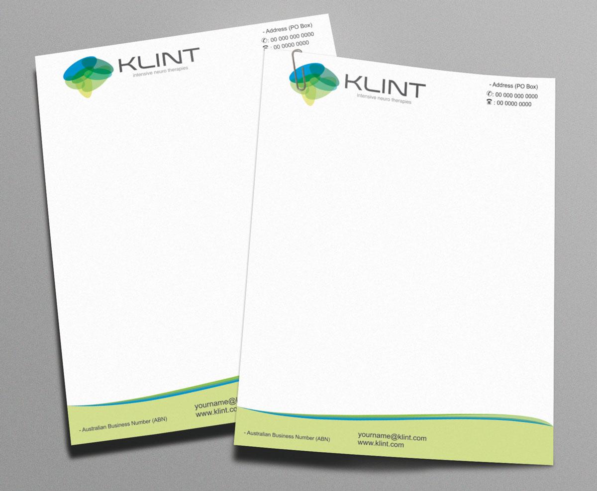Professional Upmarket Letterhead Design For KLINT By