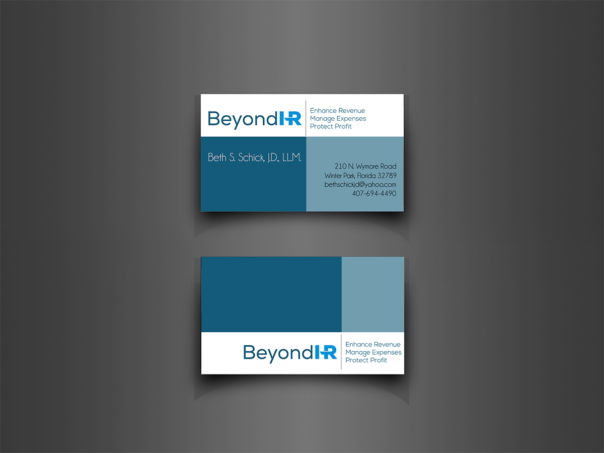 Business Business Card Design for a Company by a b c d sign | Design ...