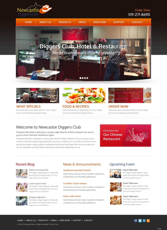 Serious masculine restaurant wordpress design for ic