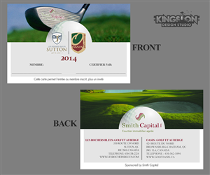 Card Design by DreSwaby - Smith Capital Real Estate: Golf Membership Card