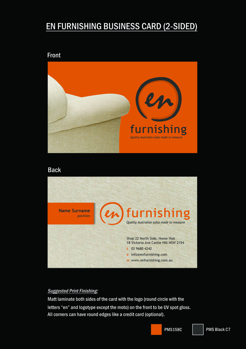 Business business card design for en furnishing by memorylane business business card design for en furnishing in australia design 3324665 reheart Image collections