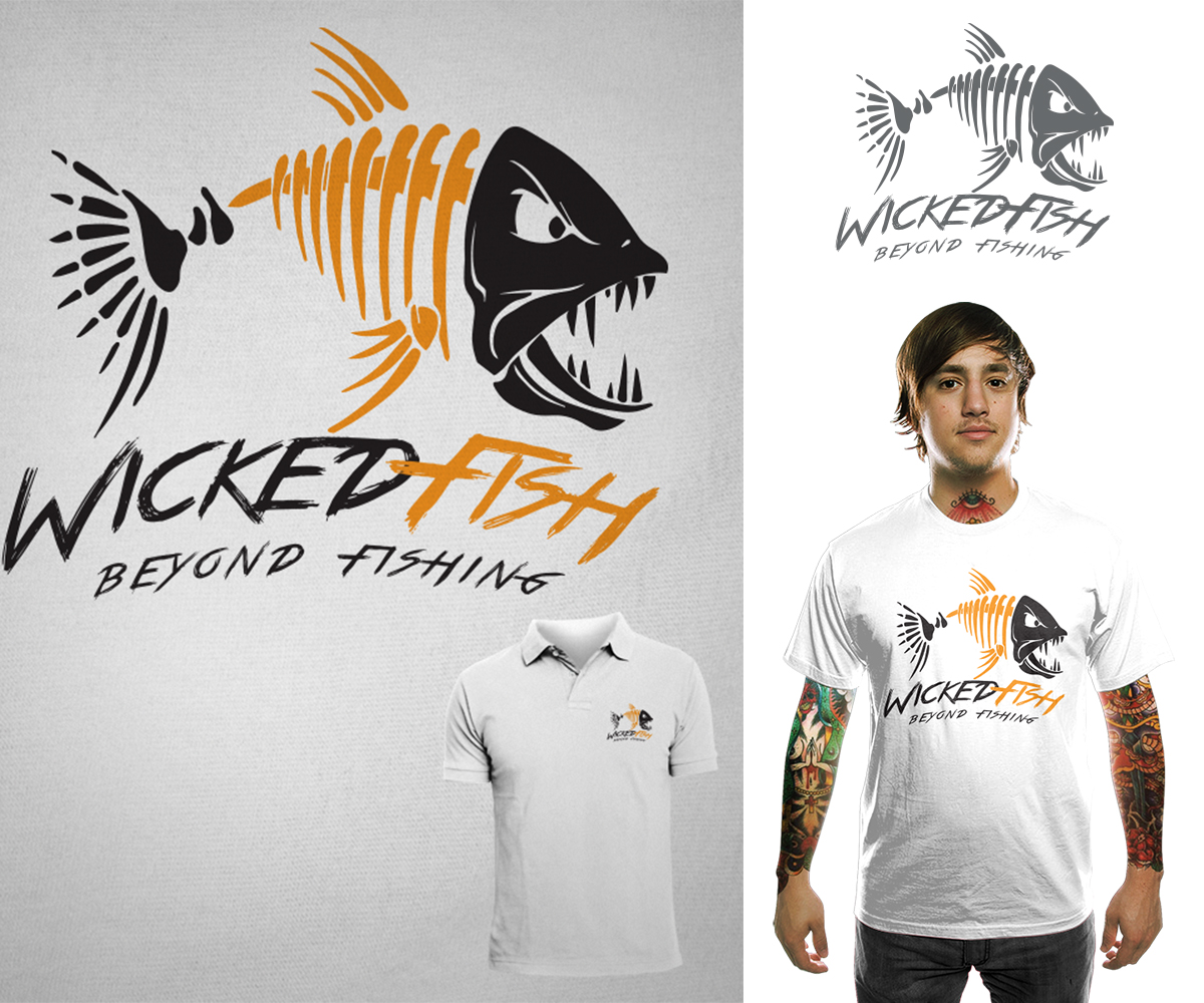 Personable elegant financial t shirt design for wicked for Fishing shirt designs