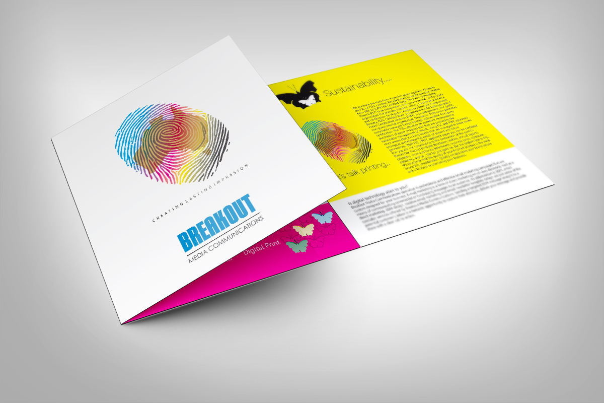 Brochure Design for Breakout Media by dkthedon | Design #3429401