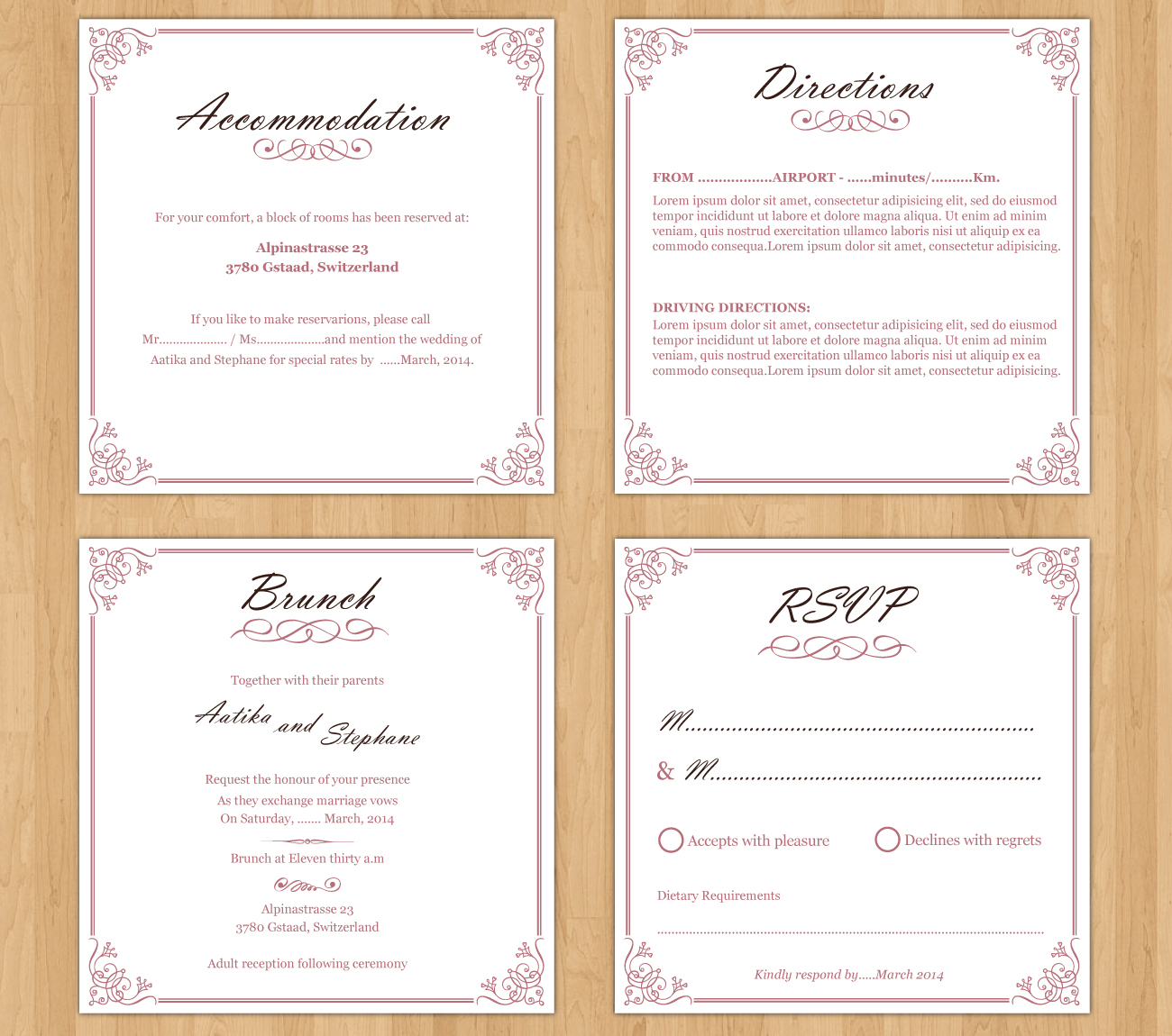 Personable feminine wedding invitation design for a company by invitation design by parul for this project design 3332775 stopboris Choice Image