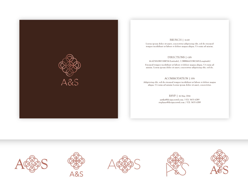 Personable, Feminine, Wedding Invitation Design for a Company by ...