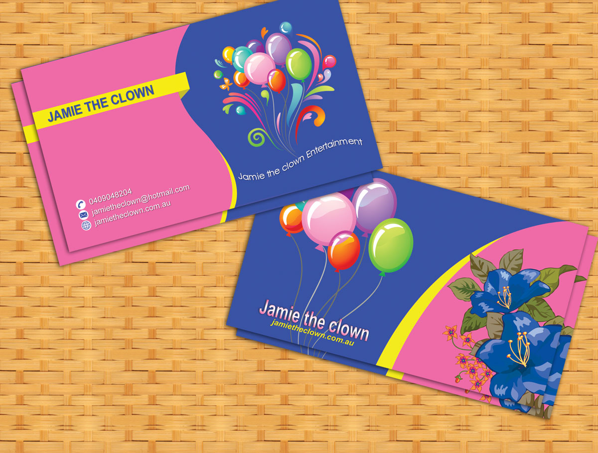 Colorful playful events business card design for a company by business card design by nuhanenterprise for this project design 3337334 colourmoves