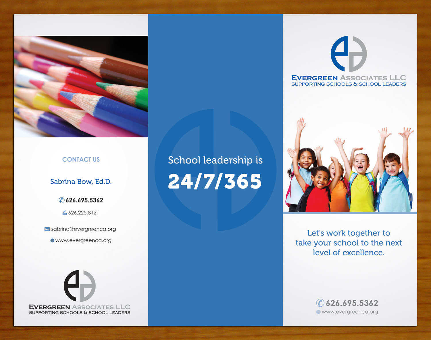 consulting brochure design for evergreen associates llc by sbss