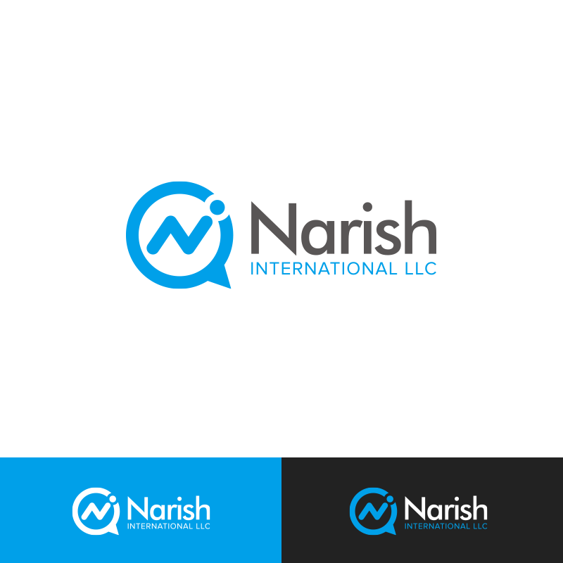 Design de logo amusant color business pour narish for International design company