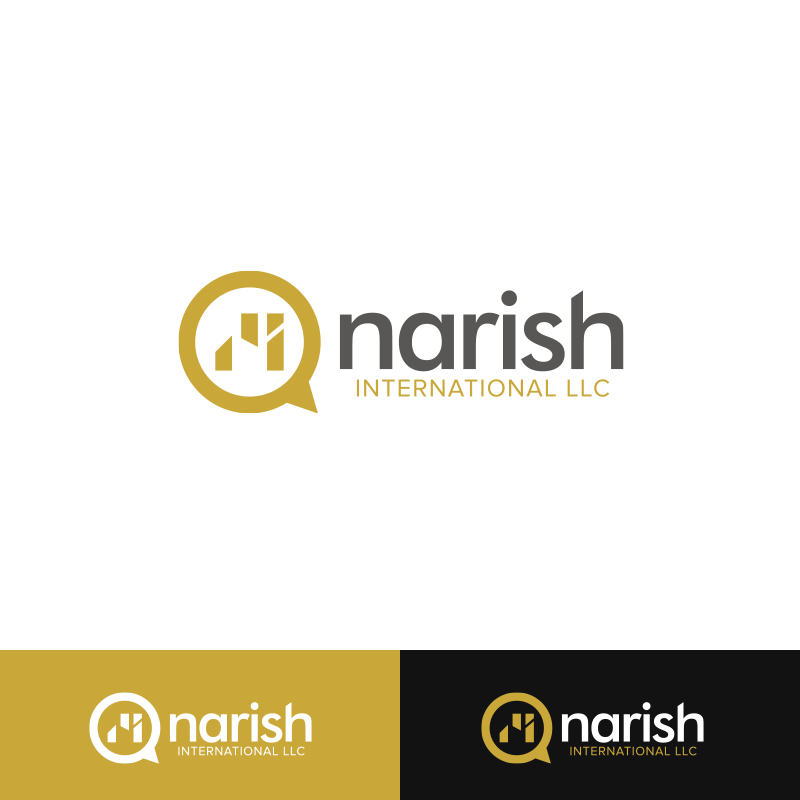 Playful colorful logo design for narish international llc for Hispano international decor llc