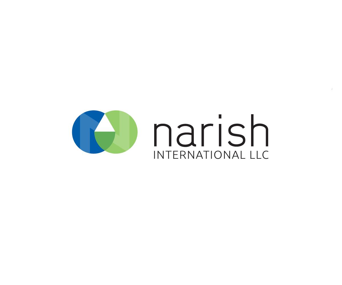 Playful colorful business logo design for narish for International design company