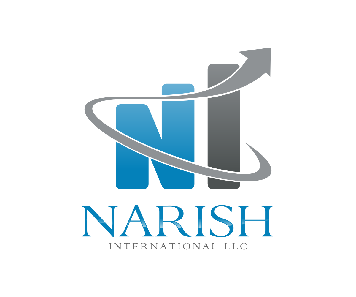 Playful colorful business logo design for narish for International design company