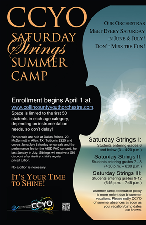 Poster Design by Perrygraphics - Summer orchestra weekly camp poster CCYO youth ...