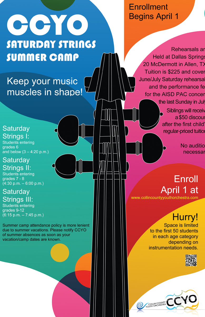 Poster design for youth -  Poster Design For Summer Orchestra Weekly Camp Poster Ccyo Youth