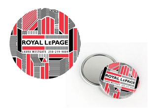 Print Design by KC Salvador - 2.25 inch Circle Pocket Mirror Real Estate Ad D...
