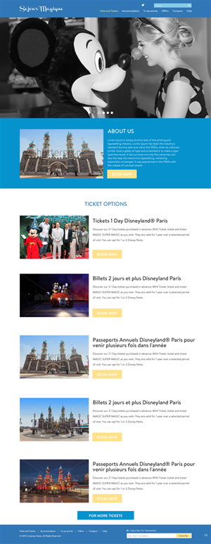 Web Design by pb - Design a website selling only journeys to Disne...