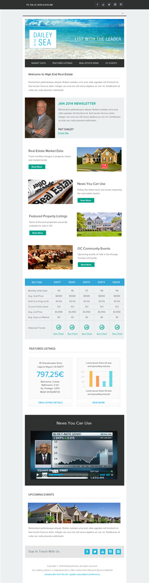 Newsletter Design by OM - Need Professional, Modern, Clean Newsletter Tem...
