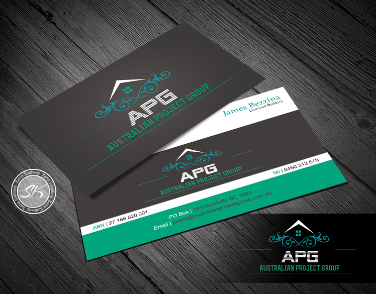 Construction business card design for a company by saria siddiqui business card design by saria siddiqui for this project design 3354489 reheart