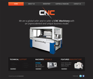Web Design by Banzufm - CNC Machines Ltd. - Elegant & Professional Glob...