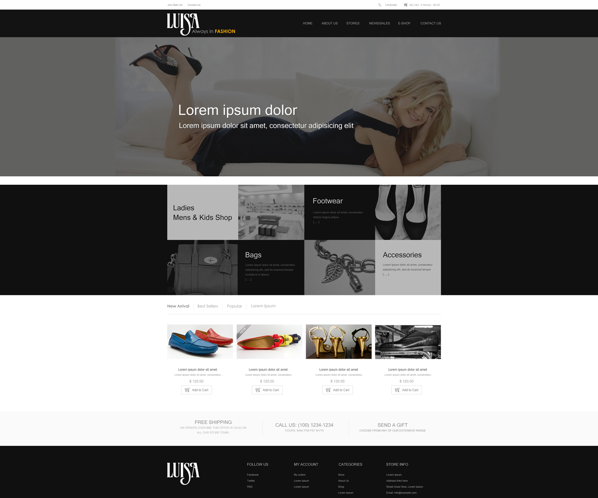 Elegant professional fashion web design for onepoint for Web design consultant