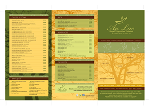 Menu Design by Zee - Au Lac Royal Vegetarian Cuisine