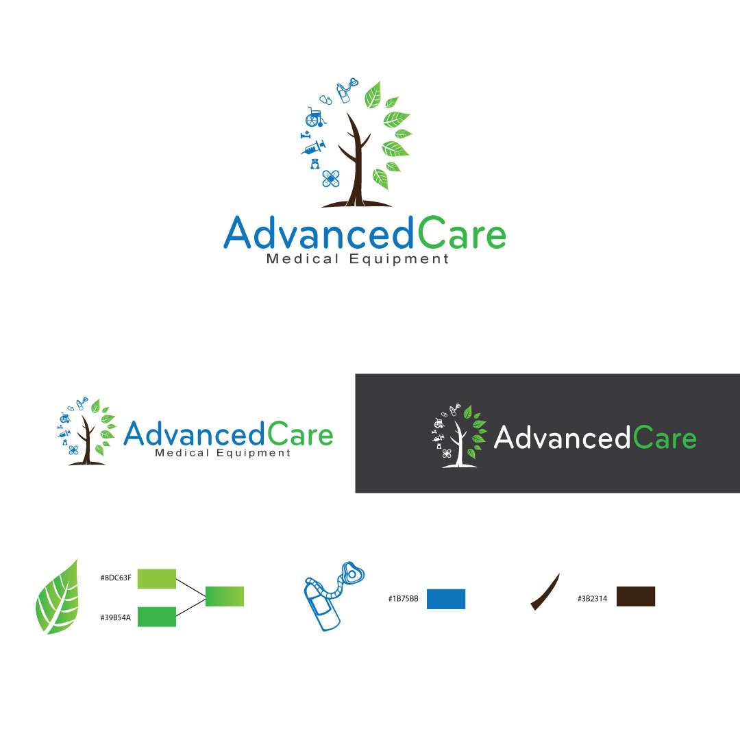 Medical Logo Design For Advanced Care Medical Equipment By