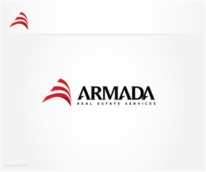 Logo Design by GreenLamp - Armada Real Estate Services - final few days le...