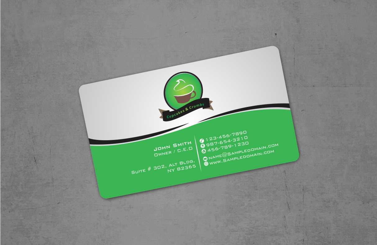 Bold, Playful, Business Business Card Design for Cupcakes and Crumbs ...