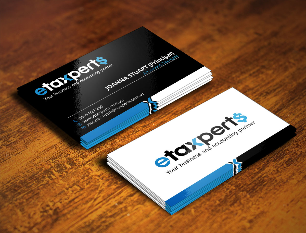 Playful, Modern, Small Business Business Card Design for etaxperts ...