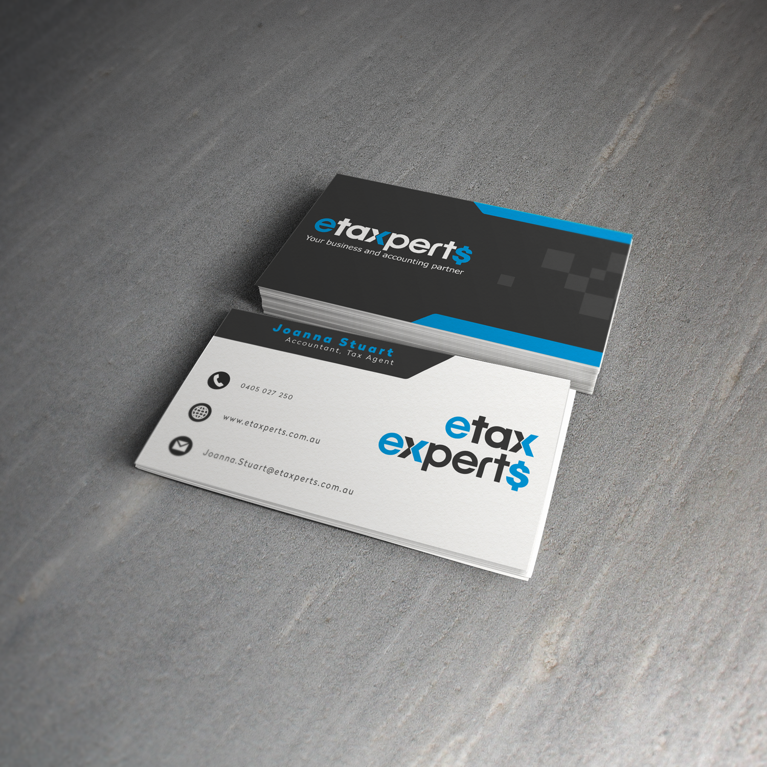 Playful, Modern Business Card Design for etaxperts by anonrotide ...