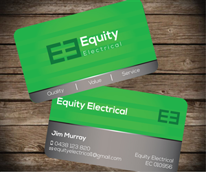 Electrical business card design for equity electrical by aaron business card design by aaron for equity electrical design 3394425 colourmoves