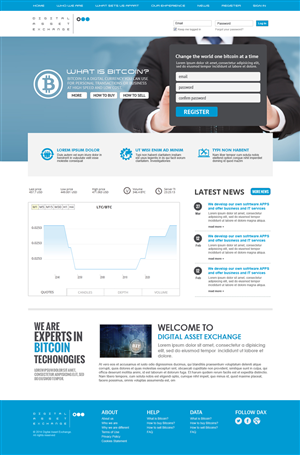 Web Design by jeckx2 - Digital Asset Exchange (front page)