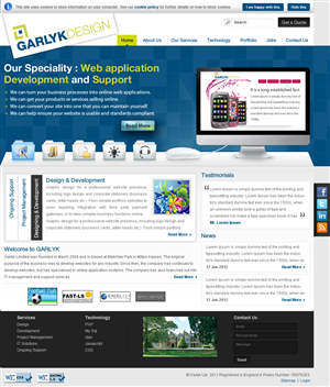 Web Design by creativewebdesignideas.com - Web re-design project for web software developm...