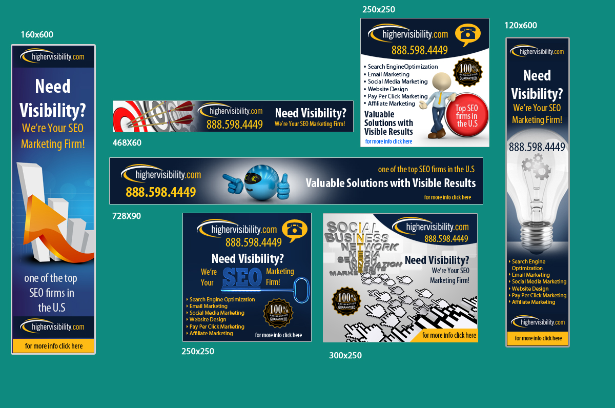 Banner ad design for highervisibility by uk design 3384070 for Advertising companies uk